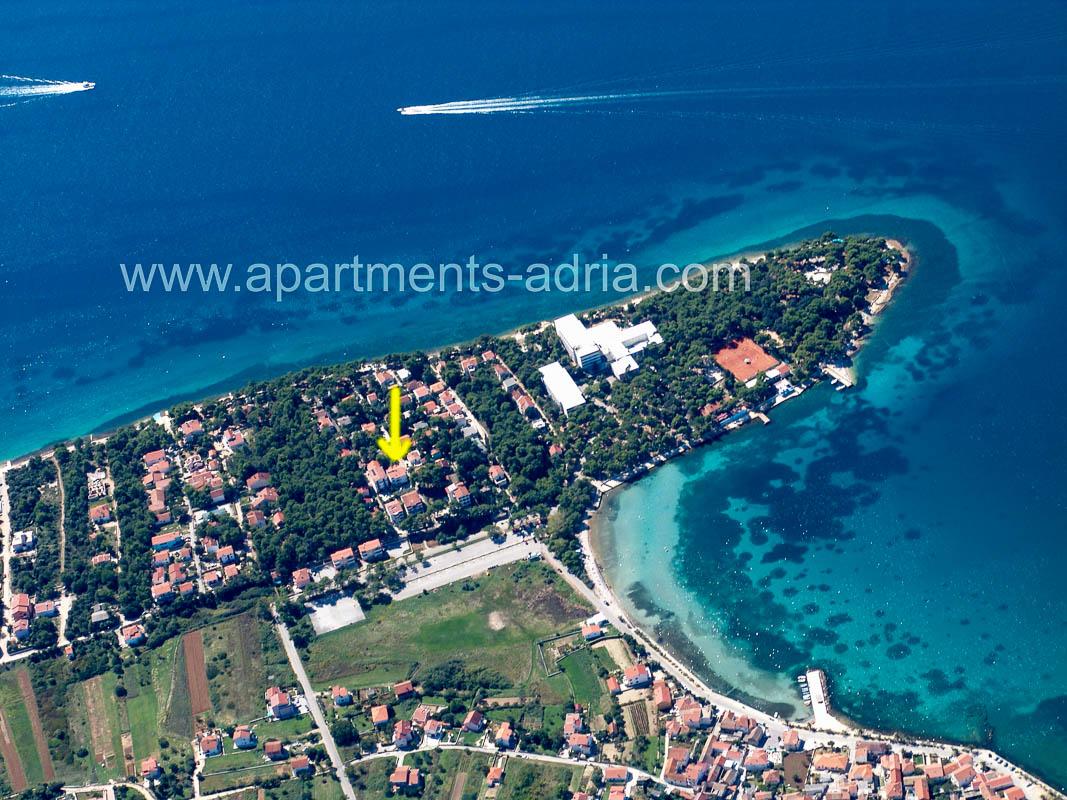 Apartmani Adria Petrcane - iz zraka